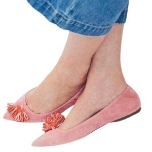 New w/tags J Crew Lottie Suede Flats pink rose 8